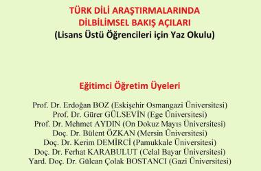 Türk Dili Araştırmalarında Dilbilimsel Bakış Açıları Yaz Okulu – ESOGÜ